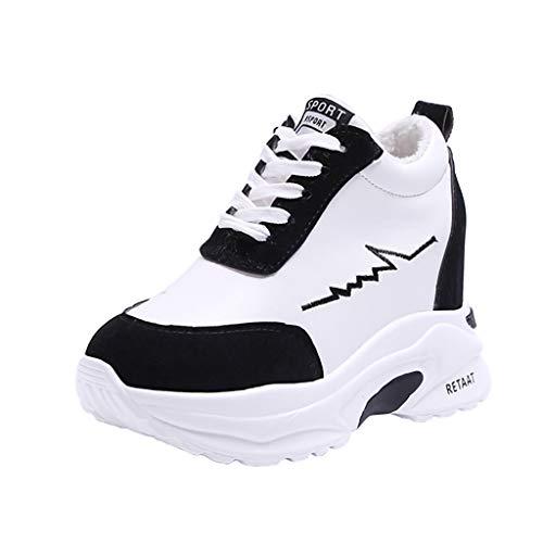 Interna Per Tonda Con Libero Sneaker Nero Casual Nero Sport Fondo A Sportive Antiscivolo Fascia Plateau Testa Arrotondato rosso Donna Da Tempo Il Abbinato Jiameng Scarpe Uomo xv0Ypt0