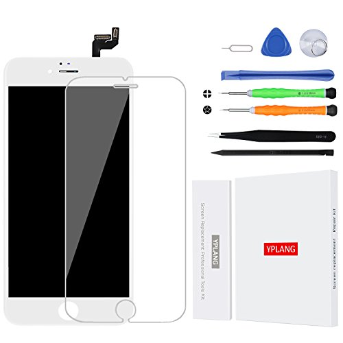 iPhone 6S Screen Replacement White -YPLANG LCD Display Screen Digitizer Frame with Repair Kit and Housing Gasket Adhesive for iPhone 6s 4.7 Inch (White)