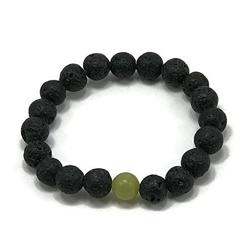 (Girls Lava and peridot Stone Diffuser Bracelet by WestMarketDesign | Childrens Lava Stone Bead Bracelet | Diffuser Jewelry Design for Kids | Kids Essential Oil Aromatherapy Jewelry Gifts For Less)