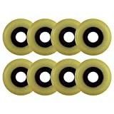 Choice Aggressive Inline Replacement Wheels Black/Yellowed 60mm 90A 8 Pack