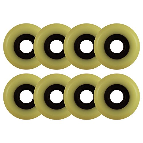 Choice Aggressive Inline Replacement Wheels Black/Yellowed 60mm 90A 8 Pack by Choice