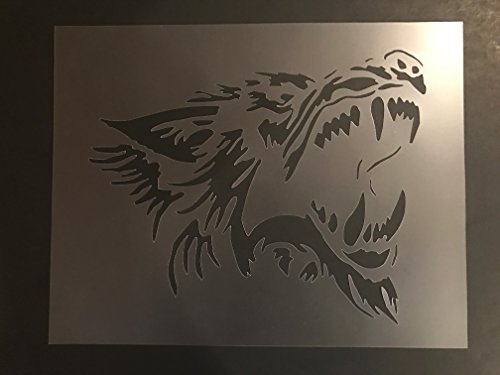 Wolf Stencil #2 Reusable 10 mil Thick 7in x 9in sheet by Everyday Funny Finds
