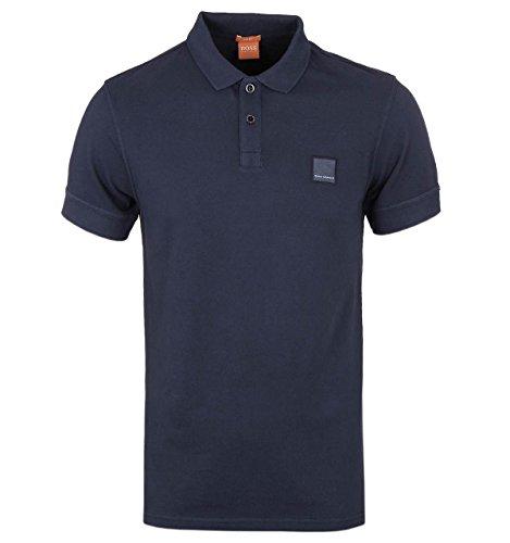 BOSS+Orange+Men%27s+Pascha+Jersey+Polo+Shirt%2C++Dark+Blue%2C++Medium