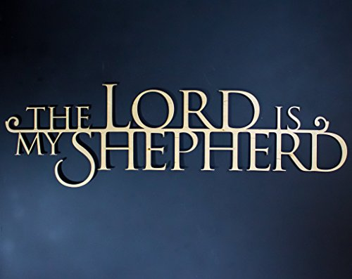 The LORD is My Shepherd Wooden 3D Wallhanging - 32
