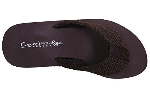 Sandalia Con Plataforma Flip-flop Y Plataforma Cambridge Select Mujeres Comfy Marrón