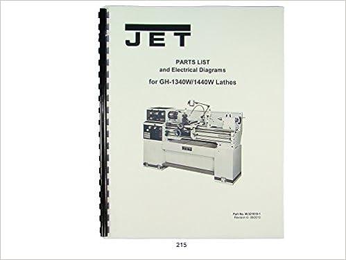 jet gh-1340w/1440w lathe parts list & electrical diagrams manual plastic  comb – 1960