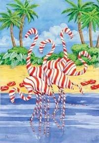 Evergreen Holiday Flamingos - 28 x 40
