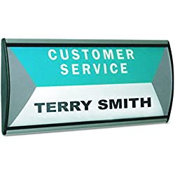Advantus People Pointer Wall/Door Sign, 8.5 x 4 Inches, Plastic Cover, Aluminum Base, (75390)