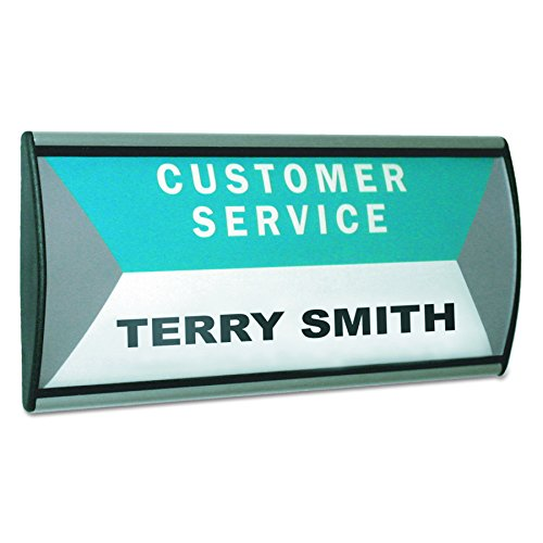 (Advantus People Pointer Wall/Door Sign, 8.5 x 4 Inches, Plastic Cover, Aluminum Base, (75390))