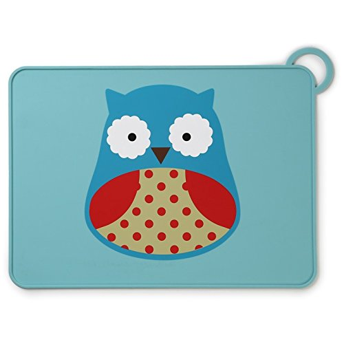 Skip Hop Silicone Placemats For Baby And Toddlers, Owl