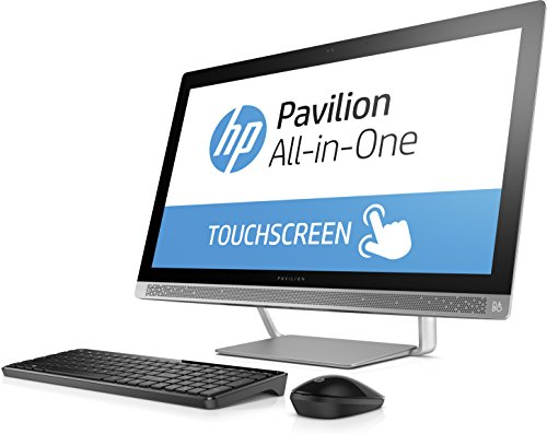 HP Pavilion 27-inch Touchscreen Intel Core i7-7700T 2.9 GHz All-in-1 Desktop, 16GB DDR4, 1TB HDD, 128GB SSD, GeForce 930MX, DVD-Writer, Bluetooth, HD Webcam, B&O Play, HDMI, Wireless-AC, Win10.