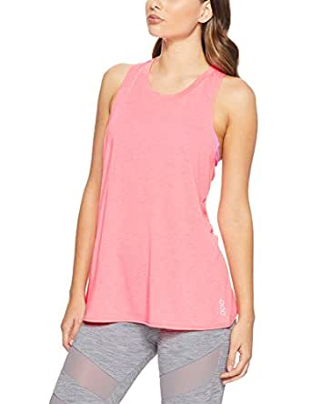 Lorna Jane Women Breathe and Twist Active Tank, Tropical Peach Marl, X-Small