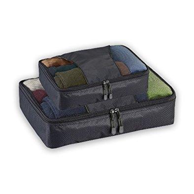 Lewis N. Clark Packing Cubes, Black, One Size (Lewis N Clark Wrinkle)