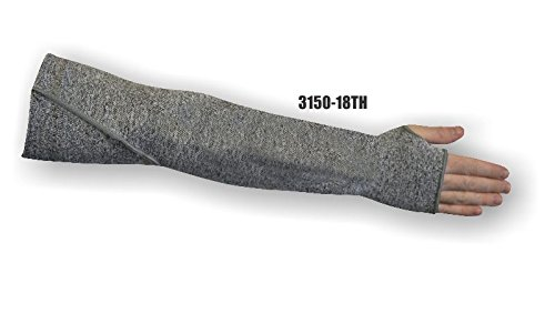 (24 Each) Majestic 18 INCH 1 PLY DYNEEMA SLEEVE WITH GUSSET & THUMB HOLE - 18 INCH(3150-18TH)