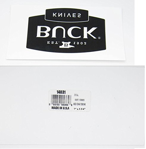 Buck Knife Window or Bumper Sticker Decal Collectors Memorabilia Gift 14033 14031 (Window Decal (applied from inside))