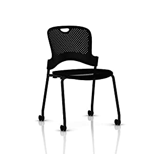 Amazoncom Stackable Caper Side Chair By Herman Miller Black - Herman miller chair
