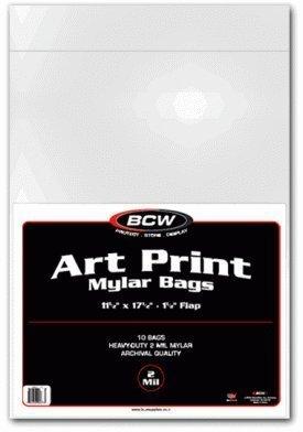 Bcw Art Print Mylar Bags - 2 mil - 11 1/ 1/2 10 /Pack