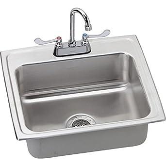 Amazon.com: Elkay lrad221955 °C lavabo individual Drop-in ...