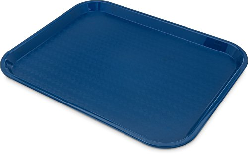 "Carlisle CT1418-8114 Café Standard Cafeteria / Fast Food Tray, 14"" x 18"", Blue (Pack of 6)"