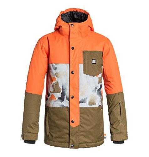 Dc Snow Jackets (DC Big Boys' Defy Boy Snow Jacket, Mandarin, 12/Medium)