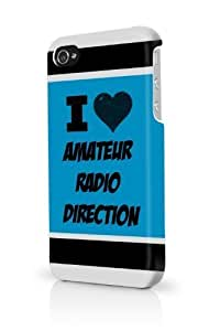Amateur Radio Direction Blue iPhone 4 Case Fits iPhone 4 & iPhone 4S Full Print Plastic Snap On Case by icecream design