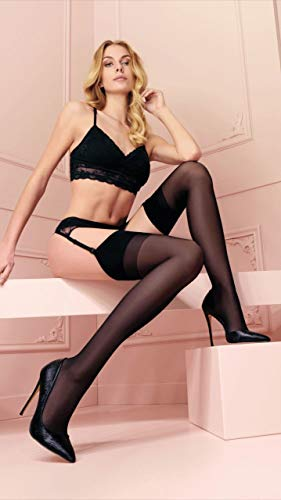Trasparenze Sara Lustre Sheer Sheer Stockings: 20 Denier Black XL