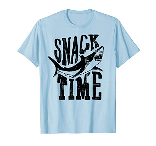 (Funny T-Shirt Snack Time Shark Eat Great White Week)
