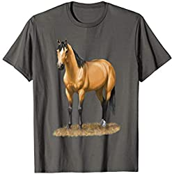 Beautiful Buckskin Dun Quarter Horse Stallion Horse Lovers T-Shirt