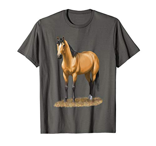Beautiful Buckskin Dun Quarter Horse Stallion Horse Lovers T-Shirt ()