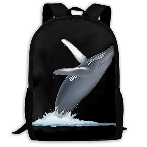 California Monterey Bay Whale Fashion Outdoor Shoulders Bag Durable Travel Camping For Kids Backpacks