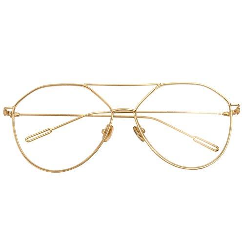 80f911cfc9 Classic Retro Metal Eyeglasses Frame Clear Lens Top Driving Designer Eyewear