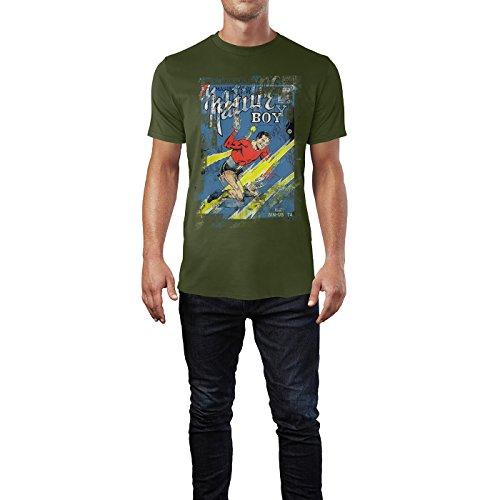 SINUS ART® Nature Boy Herren T-Shirts Armee grünes Cooles Fun Shirt mit tollen Aufdruck