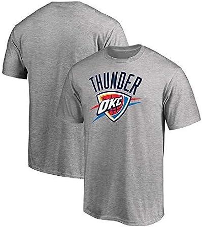 Camiseta de Verano Camiseta NBA Jerseys Oklahoma City Thunder Kobe Curry Jordan Durant Baloncesto Deportes Casual Rocket Manga Corta Ropa Deportiva (Color : Gray, Size : M): Amazon.es: Hogar