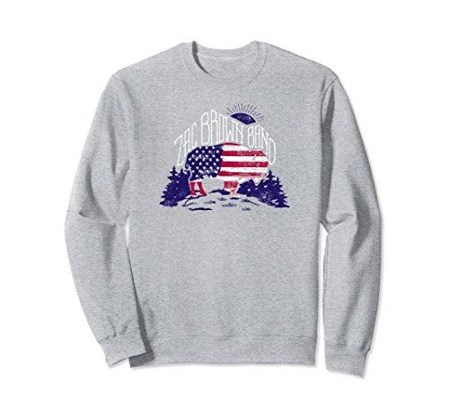 Unisex American Bison Sweatshirt XL: Heather Grey
