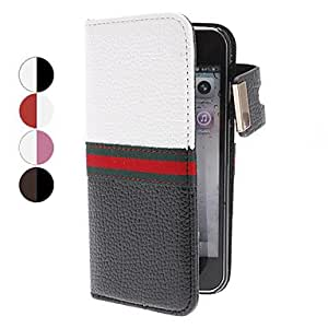 Magnet Pocket Style PU Leather Protective Case with Card Slot for iPhone 5 (Assorted Colors) --- COLOR:Black