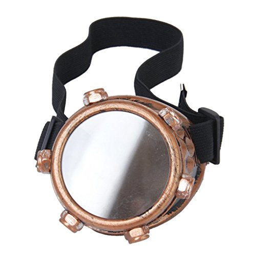 Safety goggles - SODIAL(R)Safety goggles Vintage Steampunk goggles cyclops goggles Gothic Cosplay Costume for the left eye (copper) - Left Eye Costumes