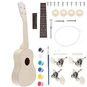 diy ukulele kit build your own soprano wooden hawaii ukulele kit wooden musical. Black Bedroom Furniture Sets. Home Design Ideas