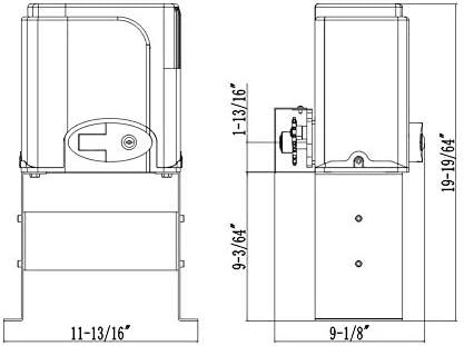 G.T.Master Kit de operador de puerta corrediza automática, kit de herramientas de apertura de puerta de entrada con dos transmisores y sensor de fotocélula infrarroja para puertas correderas de hasta 1300lb y