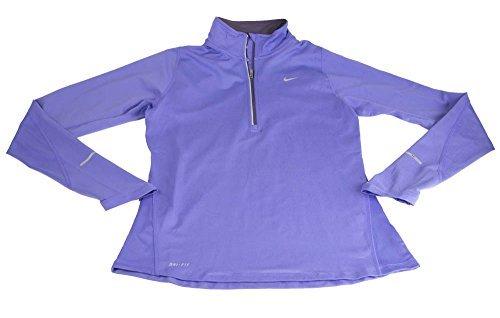Nike Women's DRI-FIT Element 1/2 Zip L/S Running TOP Purple