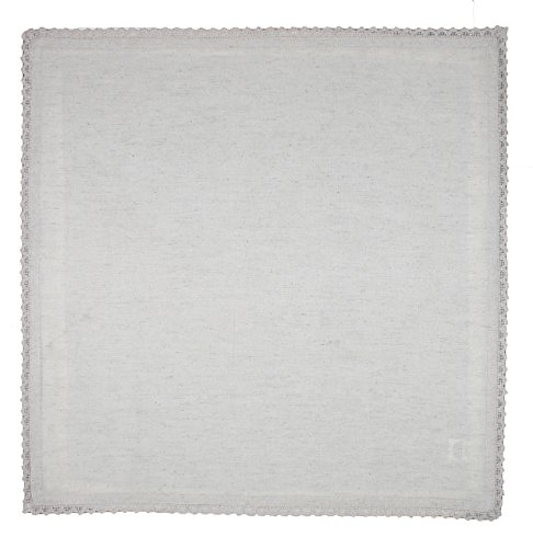 Cotton Craft - 12 Pack Oversized Flax with Lace Dinner Napkins - 20x20 Natural, 100% Flax, Tailored with Mitered Corners and a Generous Hem, Napkins are 38% Larger Than Standard Size Napkins by Cotton Craft (Image #3)