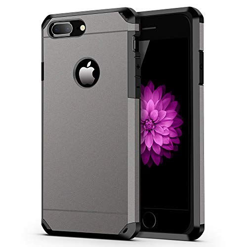 """ImpactStrong iPhone 7 Plus Case, Heavy Duty Dual Layer Protection Cover Heavy Duty Case for iPhone 7 Plus 5.5"""" (ONLY) - Gun Metal"""