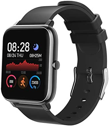 Smart Watch, Fitness Tracker with Heart Rate Monitor Sleep Monitor & 1.3 Inch Color Touch Screen, IP68 Waterproof Step Counter for Women and Men, Compatible with iOS & Android