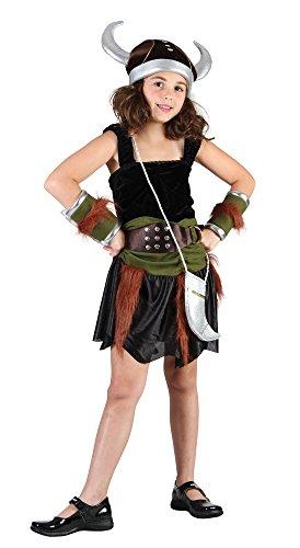 Bristol Novelty CC783 Viking Girl Costume, Medium, Approx Age 5 - 7 Years, Viking Girl (M) -