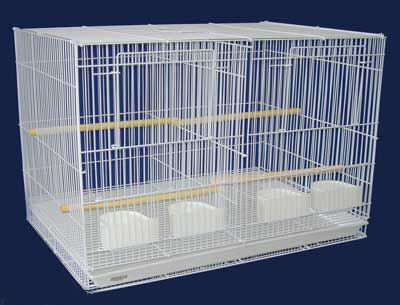 Aviary Breeding Bird Finch Parakeet Finch Flight Cage 30'' x 18'' x 18'' White With Divider by Mcage
