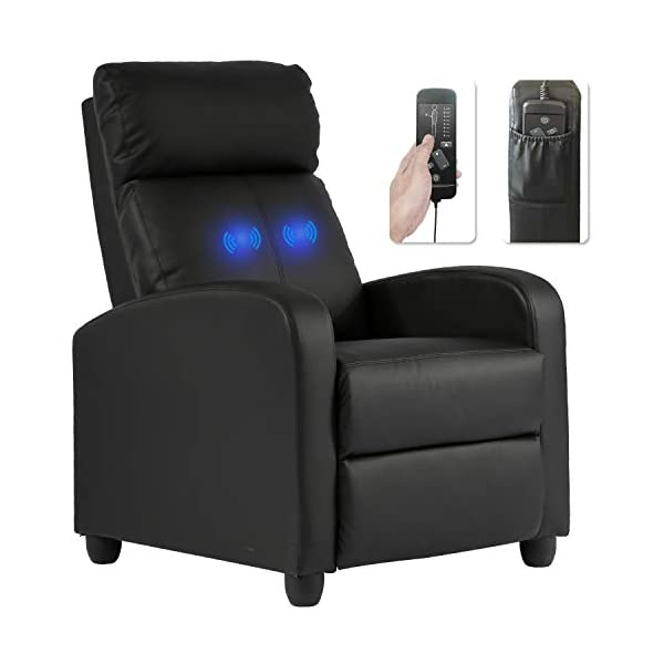 Recliner Chair for Living Room Massage Recliner Sofa Reading Chair Winback Single...