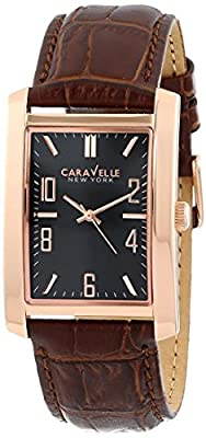 Caravelle New York Men's 44A104 Analog Display Japanese Quartz Brown Watch from Caravelle New York