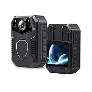 Portable Body HD Camera, CAMMHD Police Camera, 2 Inch Display, Laser Positioning,170° Wide Angle, Infrared Night Vision, 2160P, IP67, 64GB Memory