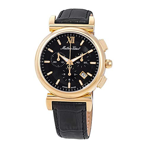 Mens Elegance Black Dial - Mathey-Tissot Elegance Chronograph Black Dial Men's Watch H410CHPLN