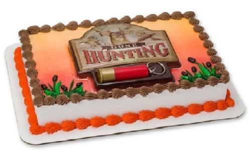 CakeDrake GONE HUNTING Shotgun Shell Deer Ducks Cake Birthday Party Decorating Topper Set