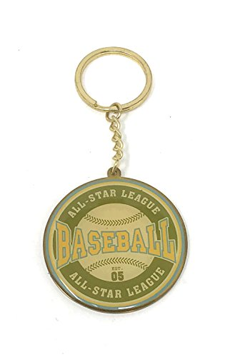 All Star Key Tag - Russ Berrie Sports Themed Keychain (All Star Baseball League Green)